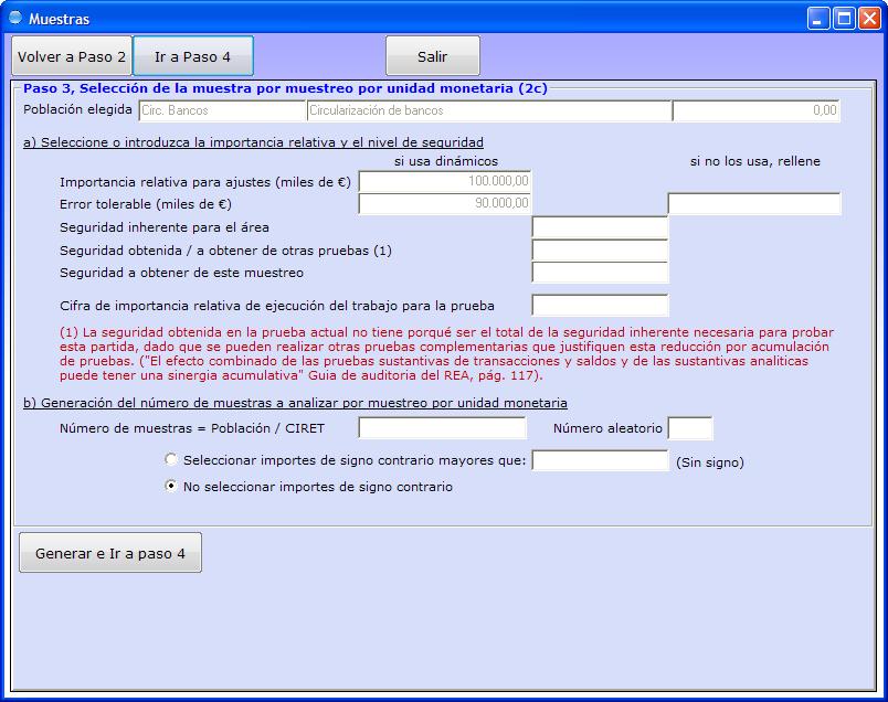 Zifra, programa de auditoria version educativa